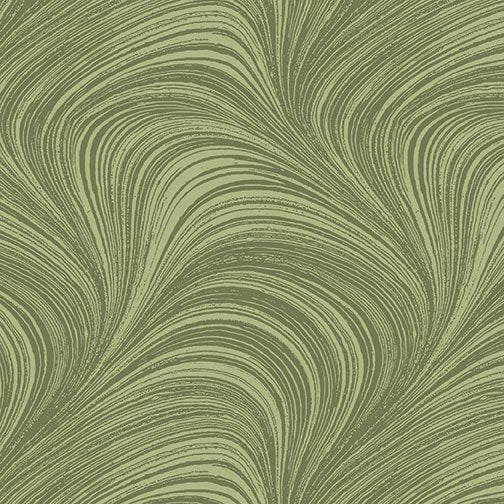 Wave Texture in Sage Green - from Benartex
