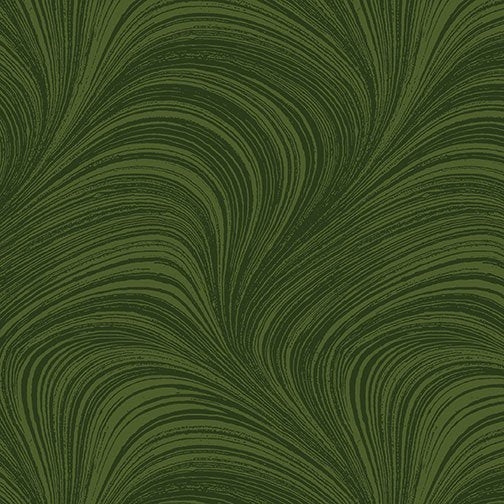 Wave Texture in Forest Green - from Benartex