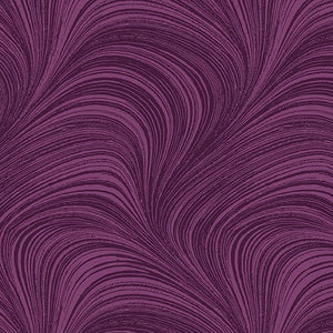 Wave Texture in Plum - from Benartex