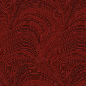 "Red Wave 108"" Quilt Backing - from Benartex"