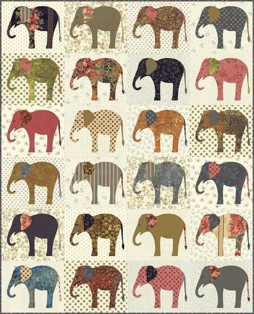 Elephants, Laundry Basket Quilts, Edyta Sitar