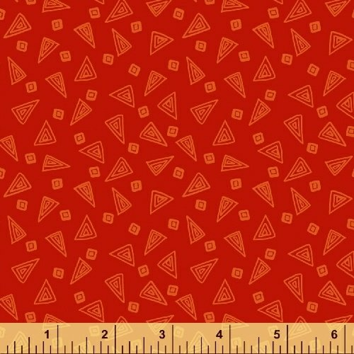 Fiesta Triangles in Scarlet from Windham Fabrics