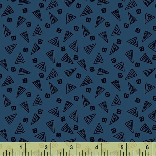 Fiesta Triangles in Cobalt Blue from Windham Fabrics