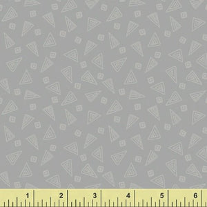 Fiesta Triangles in Slate Gray from Windham Fabrics
