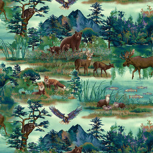 Studio e -Woodland Wonders - Scenic Animals
