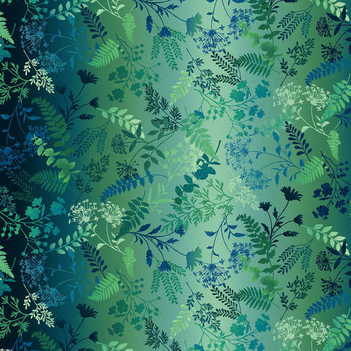 Studio e - Woodland Wonders - Wildflower Ombre in Green