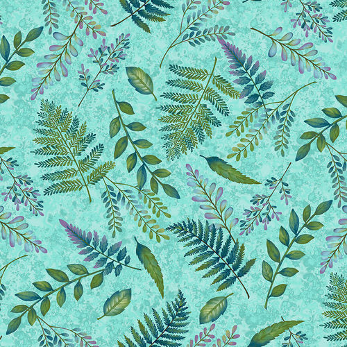 Studio e - Woodland Wonders - Fern Toss in Spruce Green