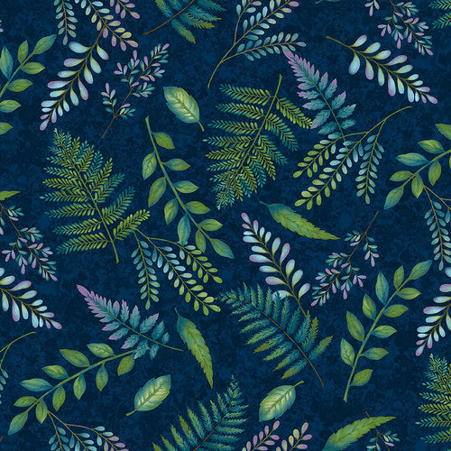 Studio e - Woodland Wonders - Fern Toss in Navy