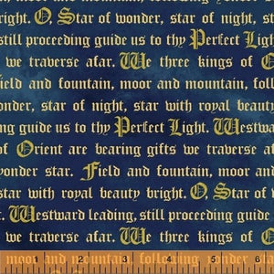 Three Kings Words in Blue from Windham