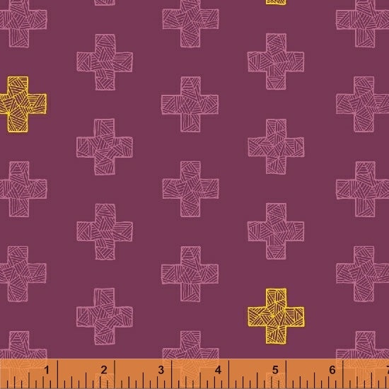 Good Vibes Only - Maroon on Maroon - From Windham Fabrics