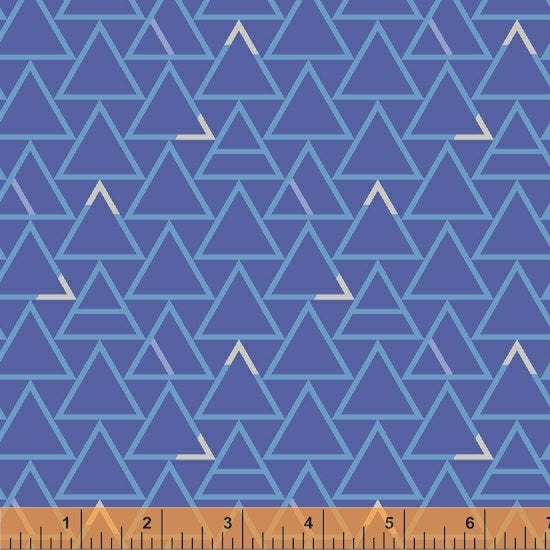 Good Vibes Only - Blue on Blue Blender - from Windham Fabrics