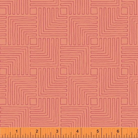 Good Vibes Only - Coral with Pink - from Windham Fabrics