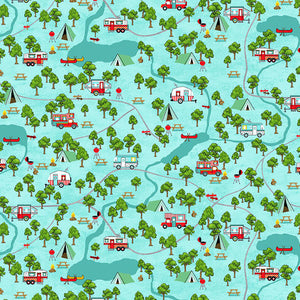 Roamin' Holiday Campsite Map - from Studio e