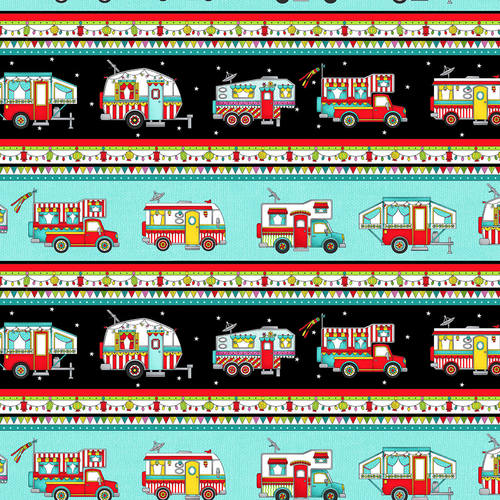 Roamin' Holiday Multi Camper Stripe - from Studio e