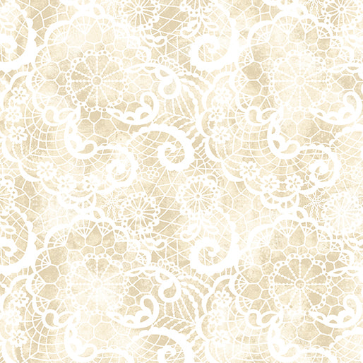 A Festival of Roses Cream Festive Lace from Benartex