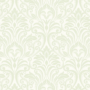 A Festival of Roses Cream Damask from Benartex