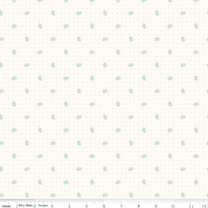 Bee Backgrounds - Daisy Teal - Lori Holt, Bee In My Bonnet - Riley Blake Designs