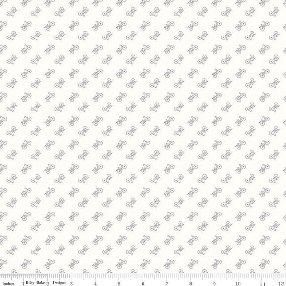 Bee Backgrounds - Bicycle Gray - Lori Holt, Bee In My Bonnet - Riley Blake Designs