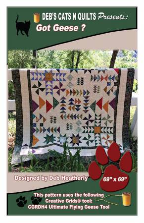Got Geese? by Deb Heatherly, Deb's Cats N Quilts
