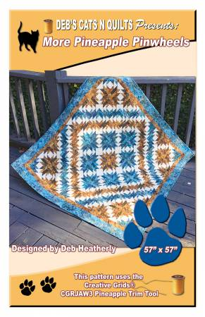 More Pineapple Pinwheels - Deb Heatherly - Deb's Cats N Quilts