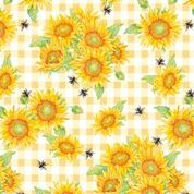 Bee Sweet Yellow Sunflowers from Studio e Fabrics