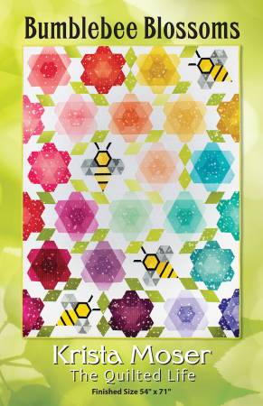 Bumblebee Blossoms, by Krista Moser The Quilted Life