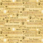 Bee Sweet Words on a Honeycomb Print from Studio e Fabrics