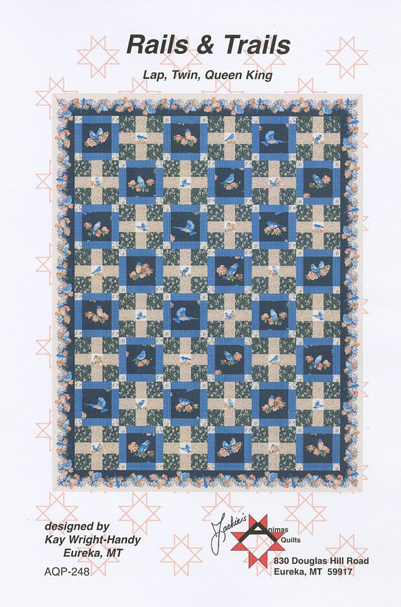 Bluebird Gathering - Rails & Trails Kit - from Animas Quilts Publishing