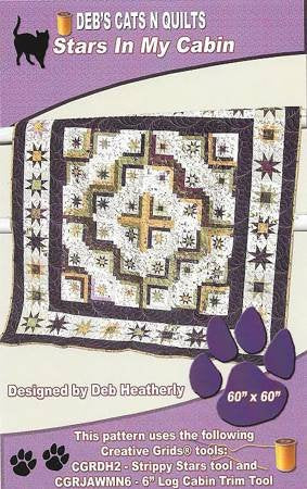 Stars In My Cabin by; Deb Heatherly, Deb's Cats N Quilts