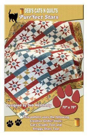 'Purr'fect Stars - Deb Heatherly - Deb's Cats N Quilts