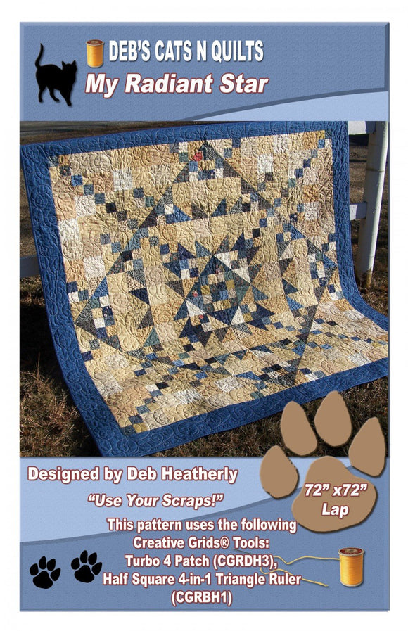 My Radiant Star - Deb Heatherly - Deb's Cats N Quilts