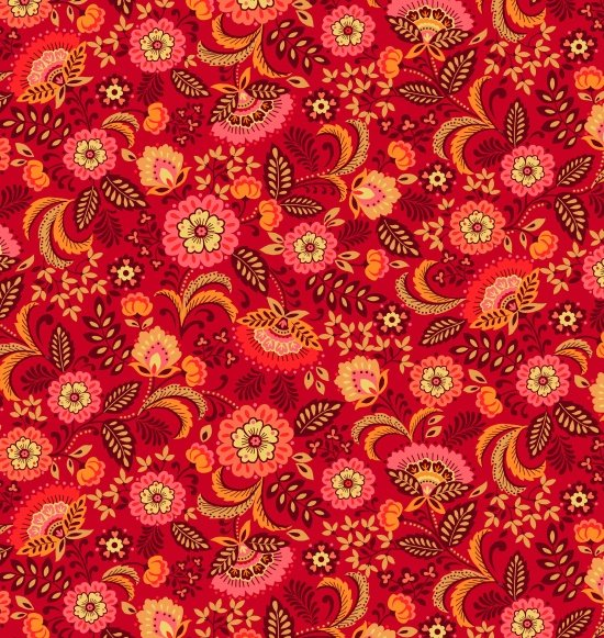 Pieceful Gathering -Floral in Red - from Studio e