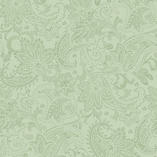 A Festive Season - Tonal Paisley in Green - from Benartex
