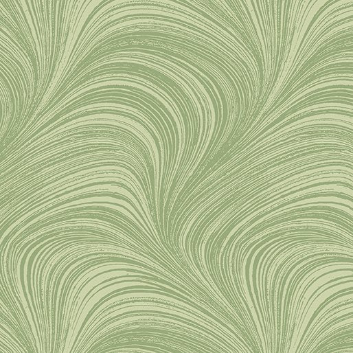 Wave Texture in Green - from Benartex