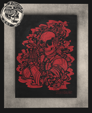 Load image into Gallery viewer, Skeletal Prayer print (multiple color variants)