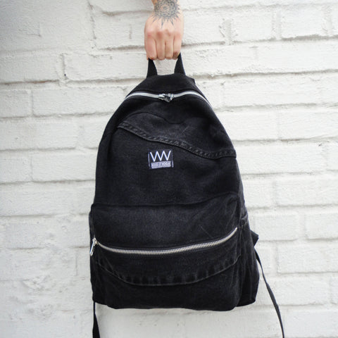 BLACK DENIM BACKPACK