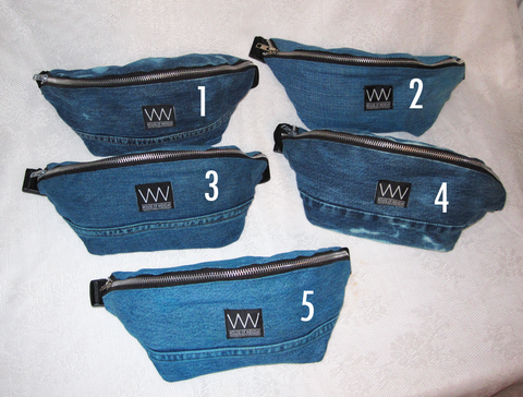 BLUE DYED FANNY PACKS