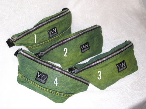 GREEN DYED FANNY PACKS