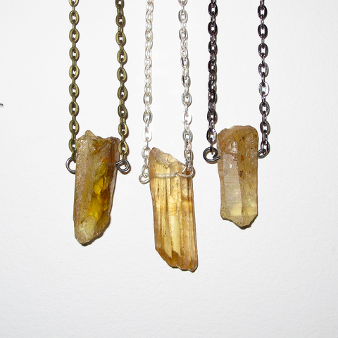 LEMON QUARTZ CRYSTAL PENDANT