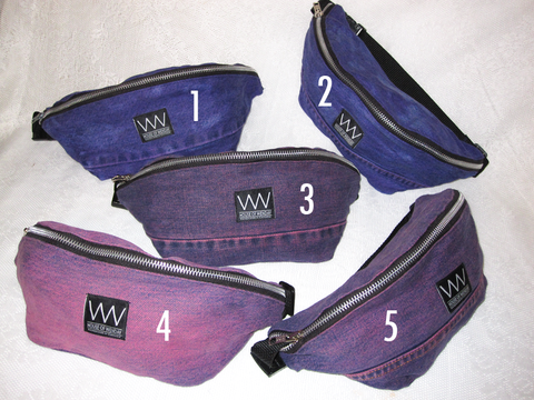 PURPLE & PINK DYED FANNY PACKS