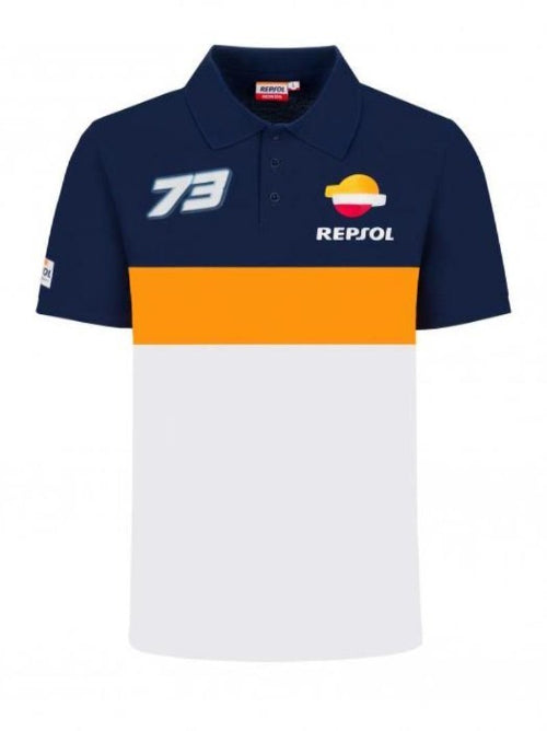 ALEX DUAL REPSOL MEN'S POLO T-SHIRT - Virtus 70° Motoworks