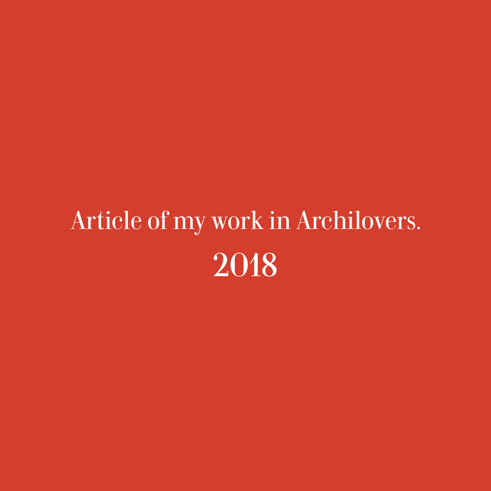 Article of my work in Archilovers