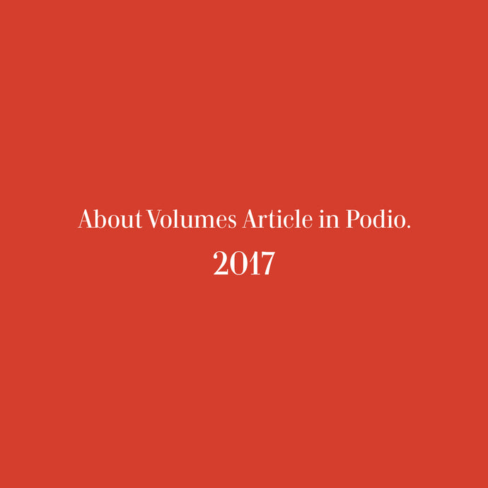 About Volumes Article in Podio