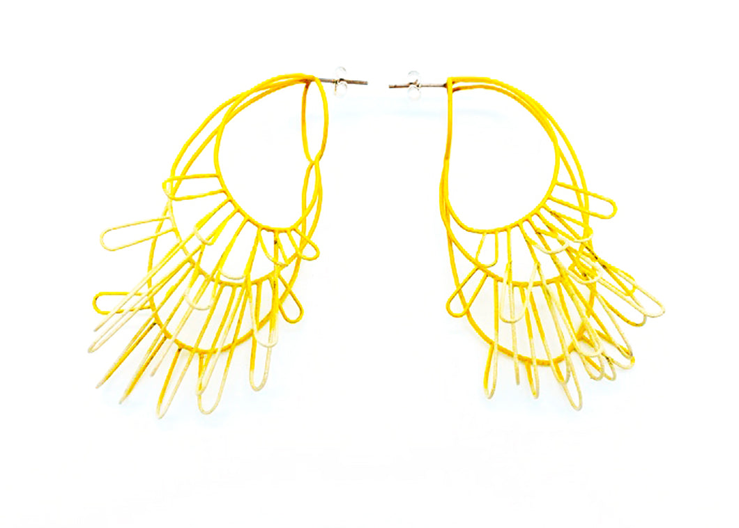 Container Yellow Earrings