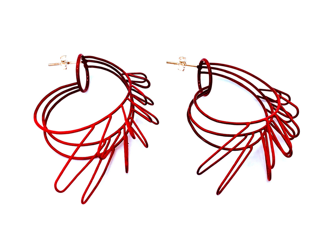 Container Red Earrings