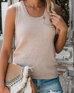 Aranla Casual Sleeveless Slim Tops
