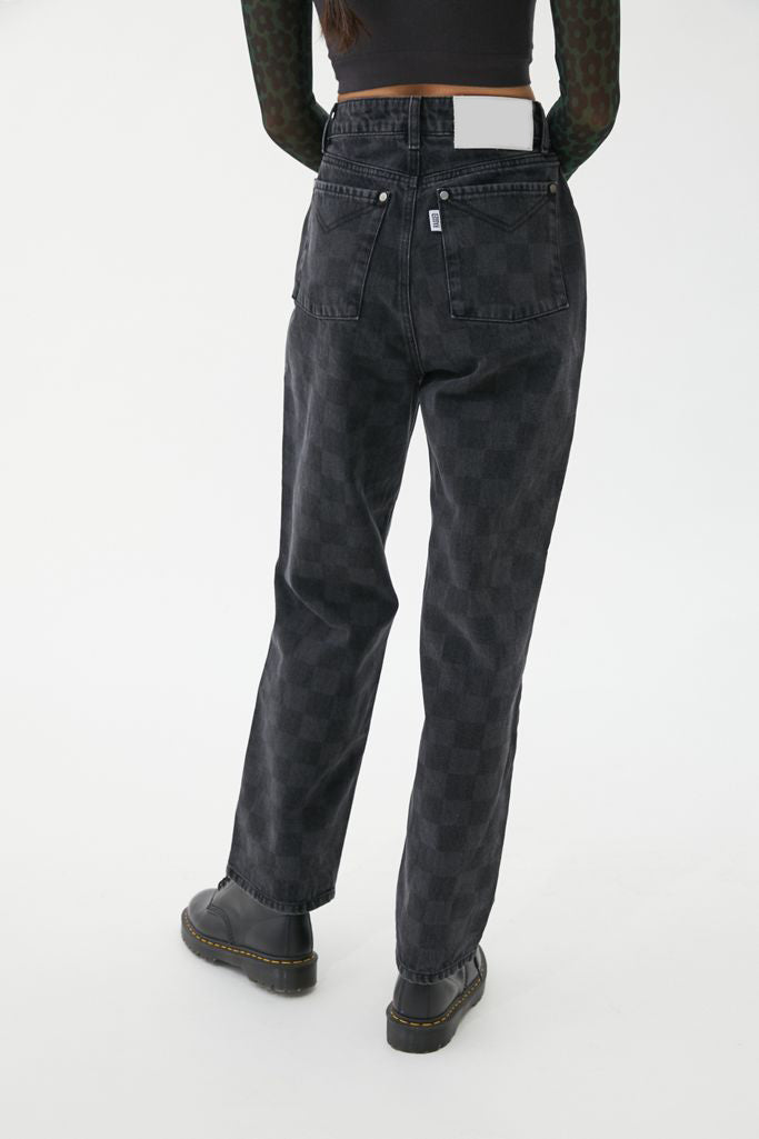 ARANLA Black Checked Jeans