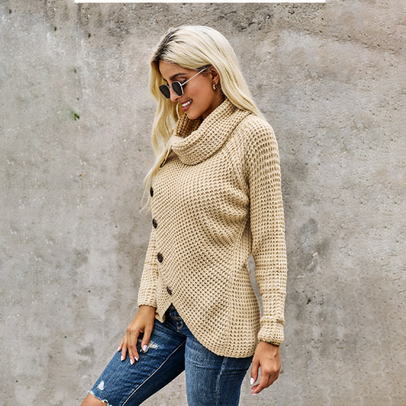 ARANLA High-neck Autumn&Winter Long Sleeves Sweater