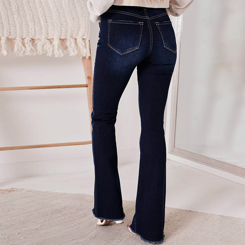 ARANLA Solid Color Comfortable Jeans Pants