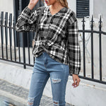 ARANLA Printed Plaid Shirt